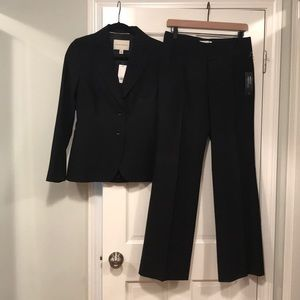 NWT size 4 banana republic suit black Martin fit